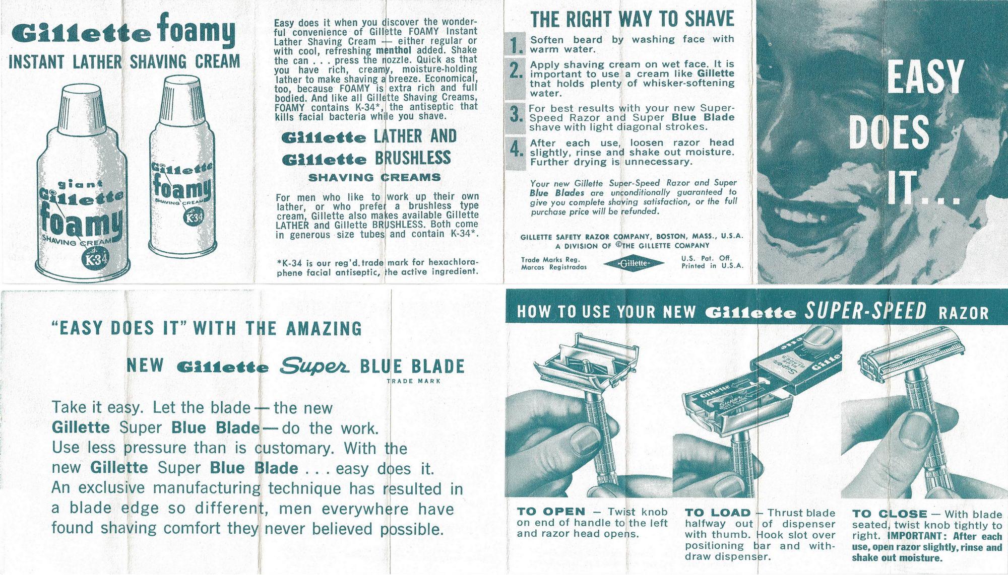 gillette slim adjustable instructions